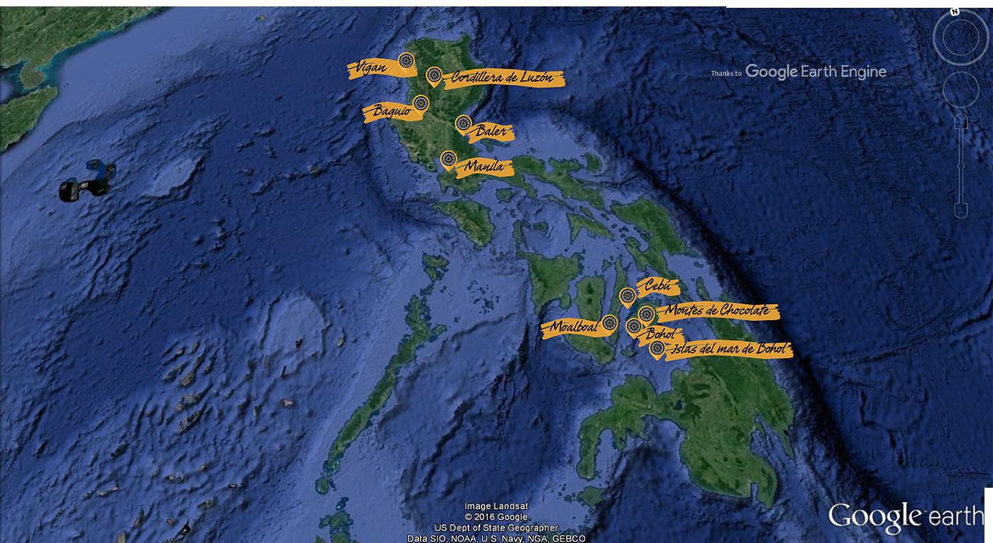 Ruta y Viaje por Filipinas