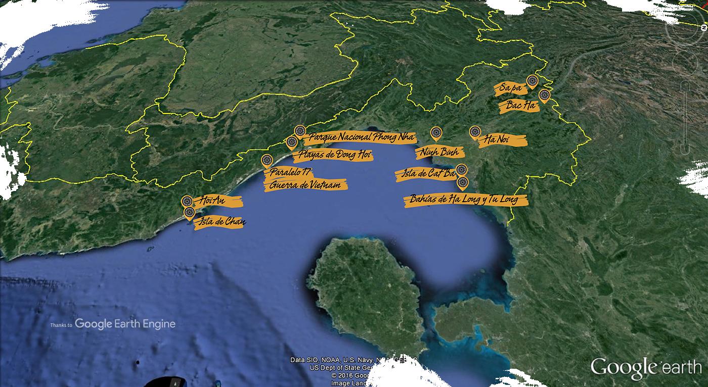 Ruta y Viaje por Vietnam